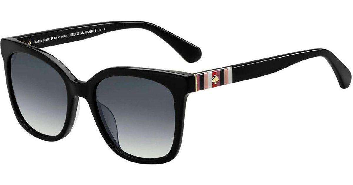 e96803c22821 Kate Spade Kiya Rectangle Sunglasses in Black - Save 20% - Lyst