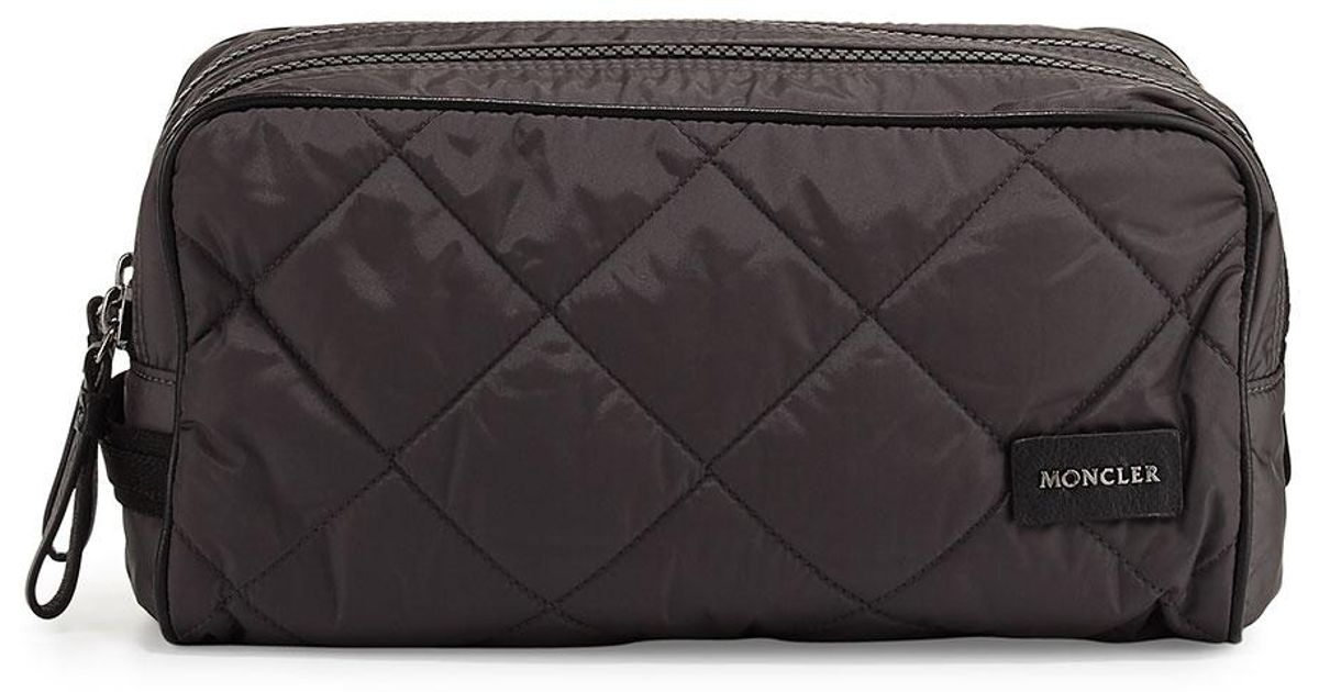 Lyst - Moncler Quilted Travel Toiletry Kit in Blue for Men 5102ffc8b9610