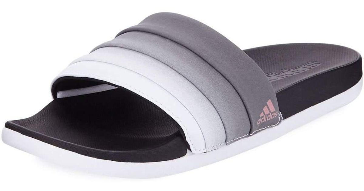 c9e19a8215b Lyst - adidas Adilette Ombre Comfort Slide Sandals in White