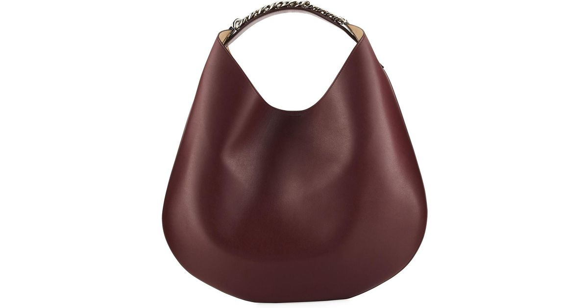 29398c9800 Lyst - Givenchy Infinity Medium Chain Hobo Bag in Red