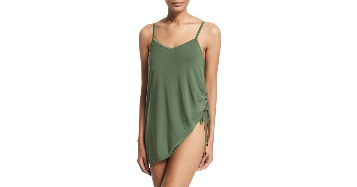 009264438a2f6 Magicsuit Brynn Asymmetric Swim Dress in Green - Lyst