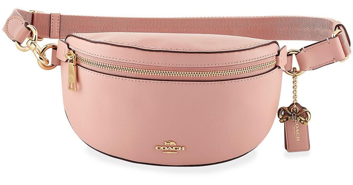 d0b4f87730 Lyst - COACH X Selena Gomez Quote Belt Bag in Pink