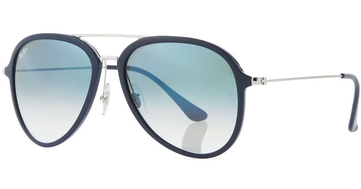 7c2af917f3 Lyst - Ray-Ban Men s Gradient Propionate Aviator Sunglasses in Blue for Men