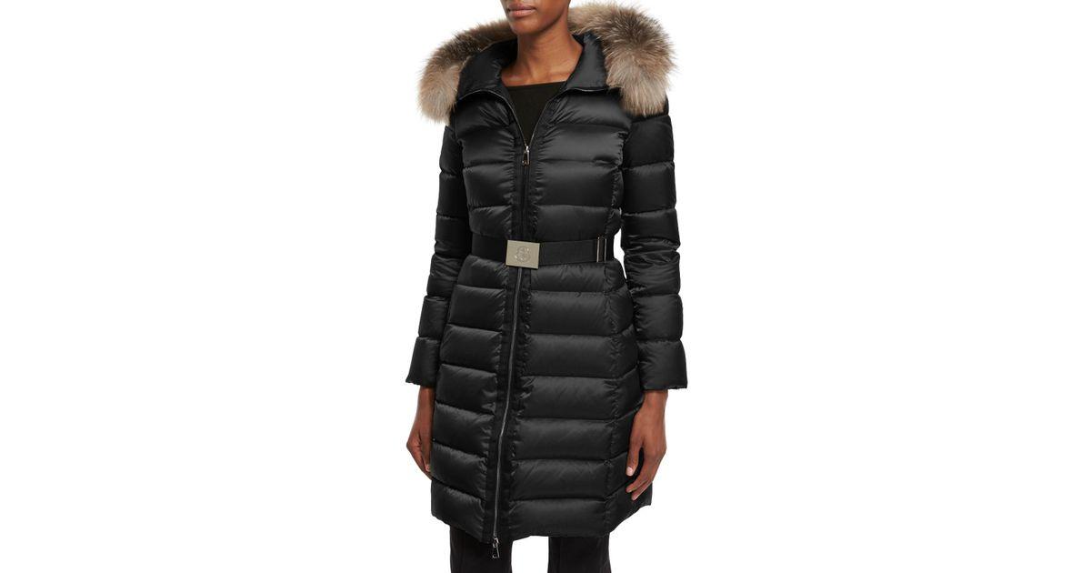8d4e0764a italy moncler fur hooded long puffer coat hooks 6b8ee 9fc3d