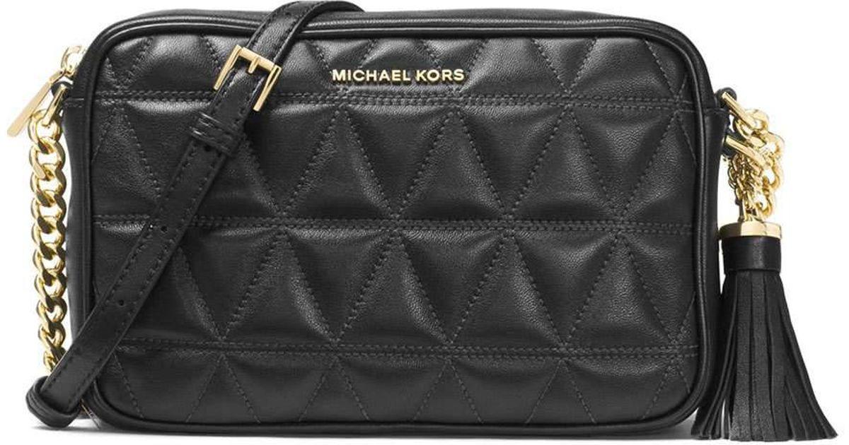 fff23cc3d8 Lyst - MICHAEL Michael Kors Ginny Medium Quilted Camera Bag in Black