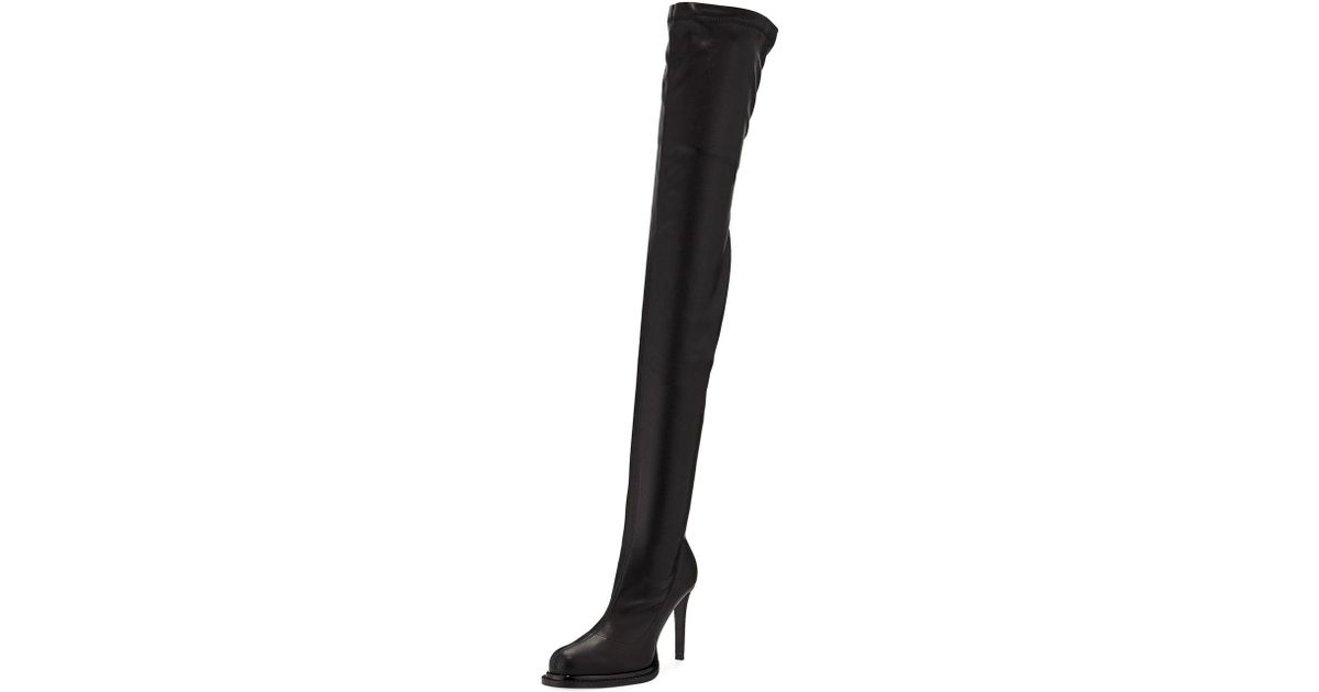 969c9e1044f Lyst - Stella McCartney Stretch Over-the-knee Boots in Black
