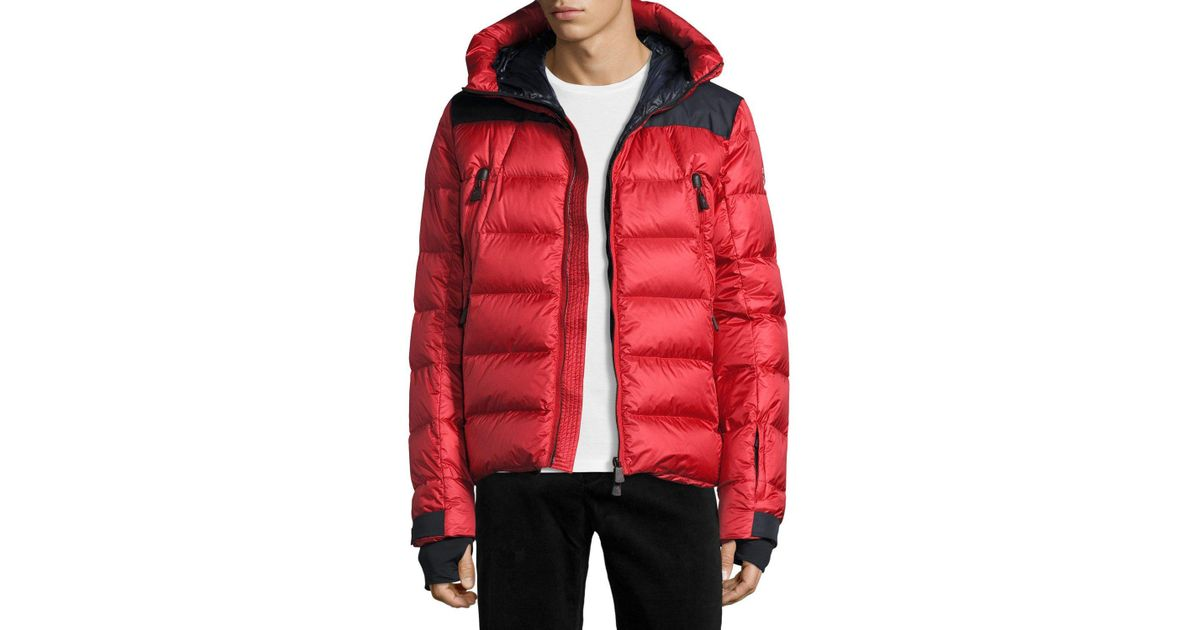 2491630d8a8e Lyst - Moncler Camurac Down Ski Jacket in Red for Men