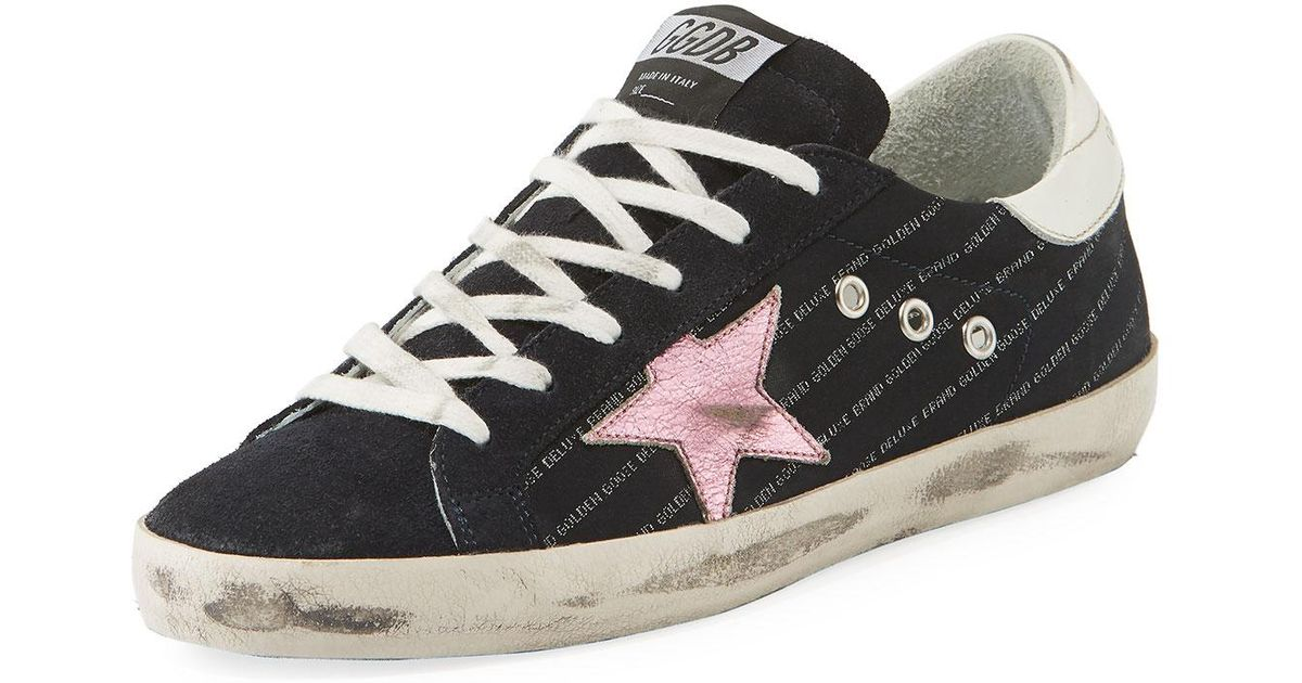11b9a328761 Lyst - Golden Goose Deluxe Brand Superstar Low-top Mixed Sneakers in Black  for Men