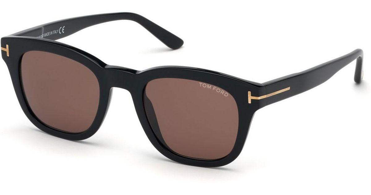 def844677e5 Lyst - Tom Ford Men s Square Plastic Sunglasses in Black for Men