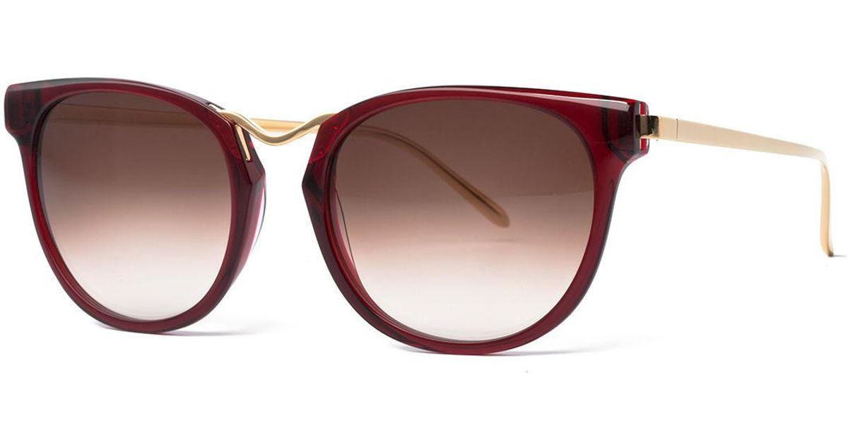 9a4624f184 Lyst - Thierry Lasry Gummy Oversized Square Sunglasses in Red
