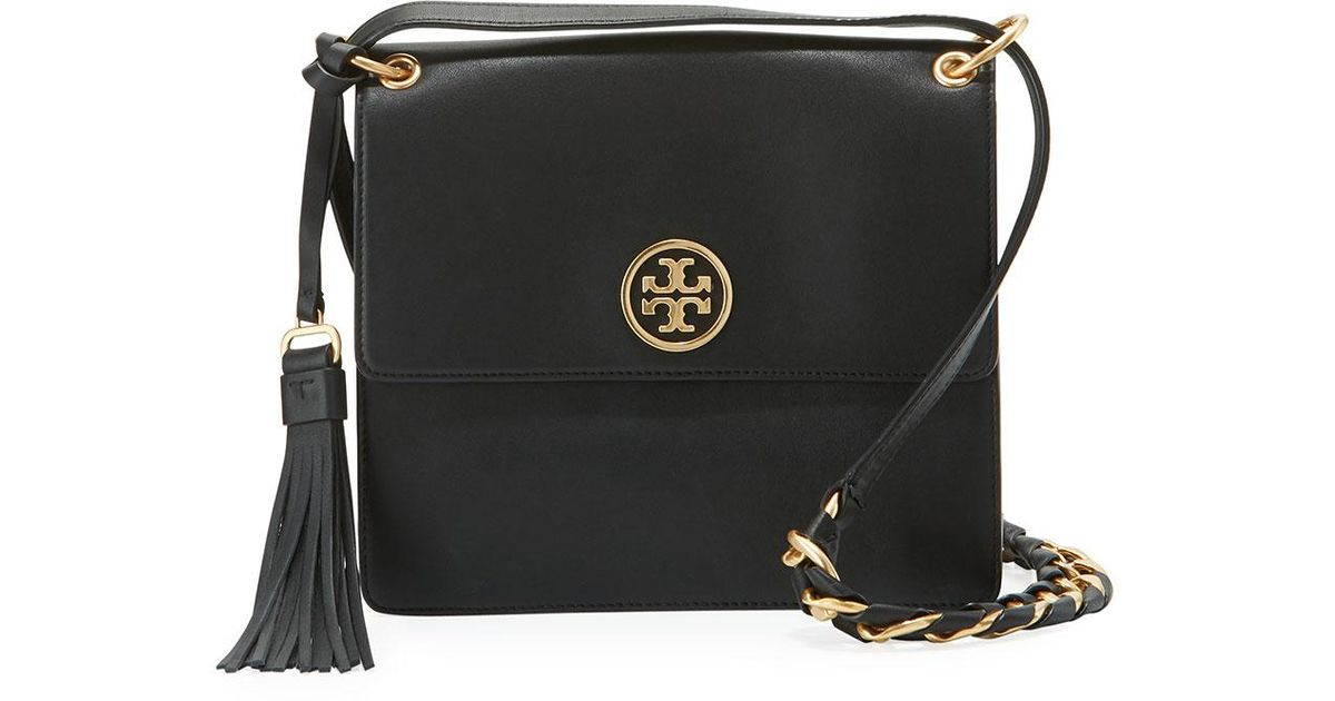 333d9ff225a Tory Burch Brooke Smooth Leather Shoulder Bag - Lyst