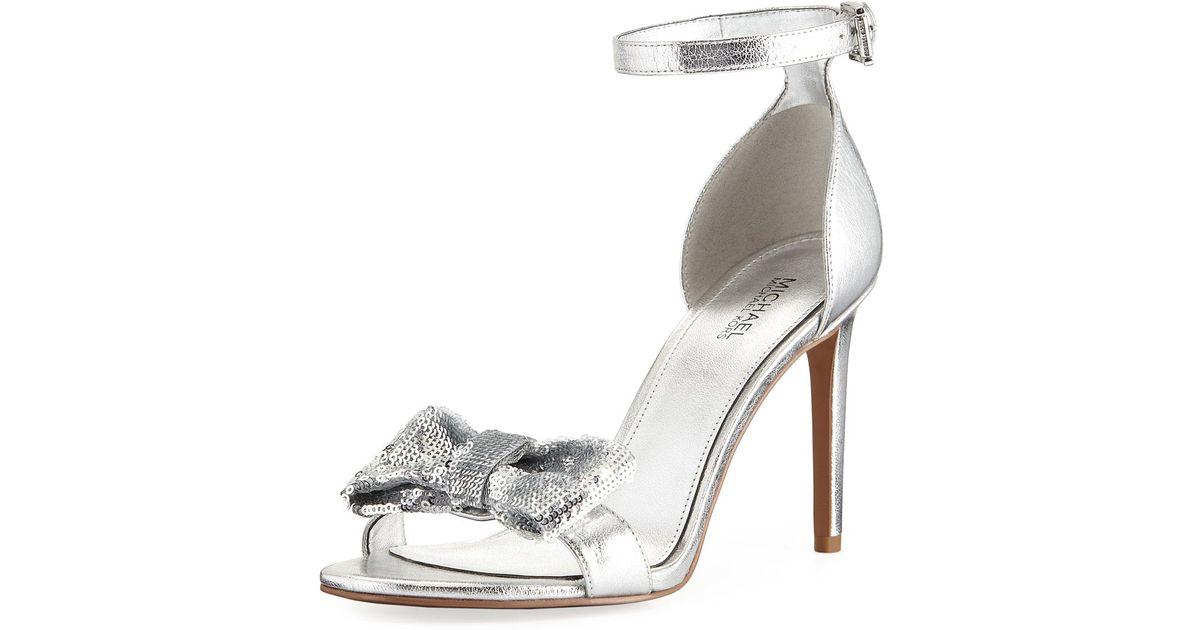 3eaa9ce3337 Lyst - Michael Kors Paris Sandals in Metallic