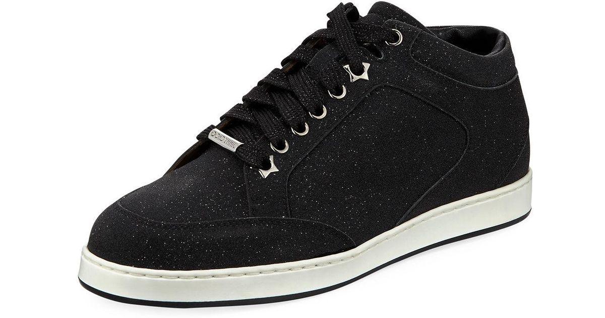7380e451b251 Lyst - Jimmy Choo Miami Glitter Leather Low-top Sneakers in Black for Men