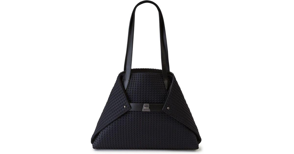 Lyst - Akris Ai Small Leather Shoulder Tote Bag in Black 0c0ebfaa4e