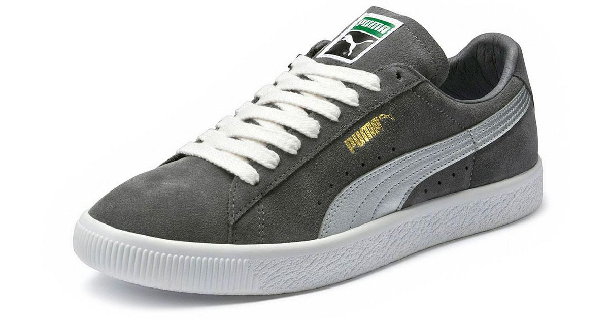 Lyst - PUMA Men s Clyde Suede Platform Low-top Sneakers in Gray for Men eab0fad0c