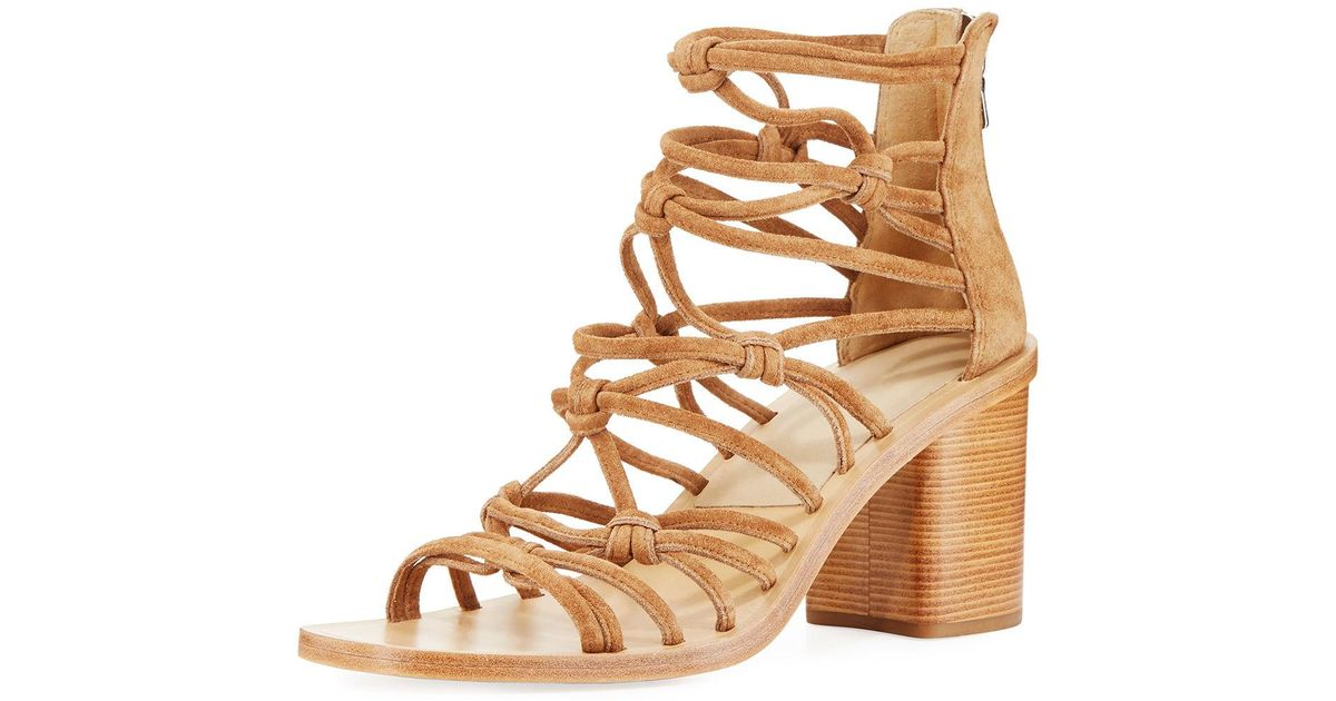 buy cheap footlocker fast delivery cheap online Rag & Bone Suede Caged Sandals outlet visit sale extremely factory outlet cheap price UetI5