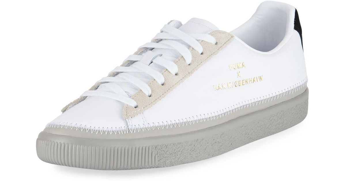 Creeper Sneaker Stitched Puma Hand Leather Gray Basket Lyst dCtsQrxh