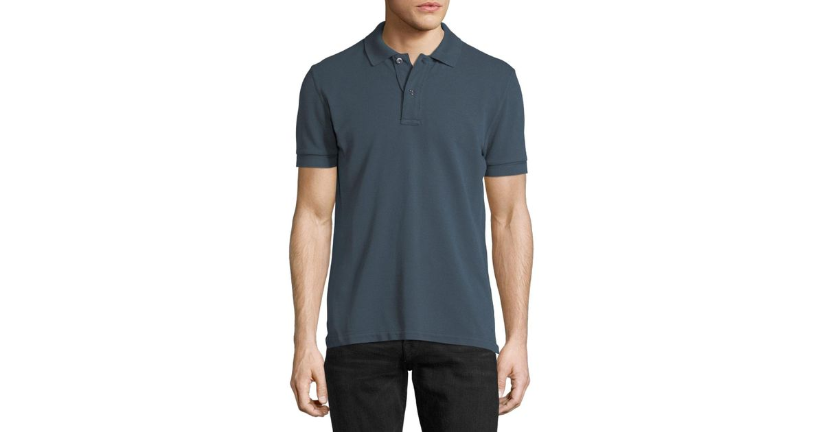 bd5eed9d83011 Lyst - Tom Ford Tennis Pique Polo Shirt Slate Blue for Men