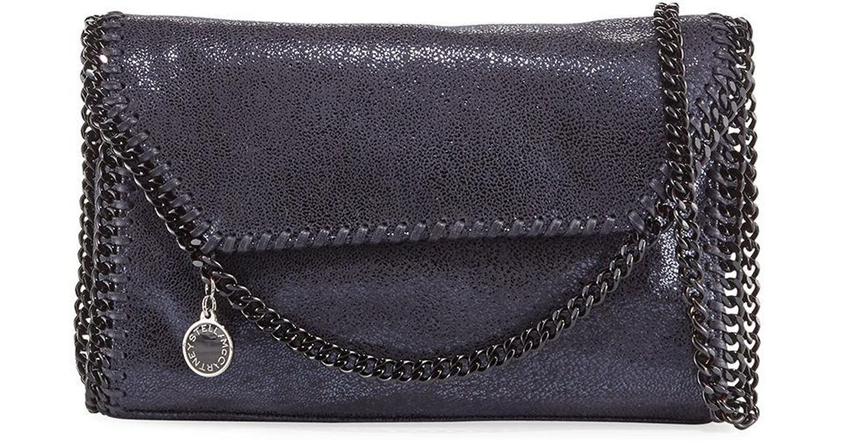 e19842eeef85 Lyst - Stella McCartney Falabella Mini Spotted Chamois Shoulder Bag in Blue