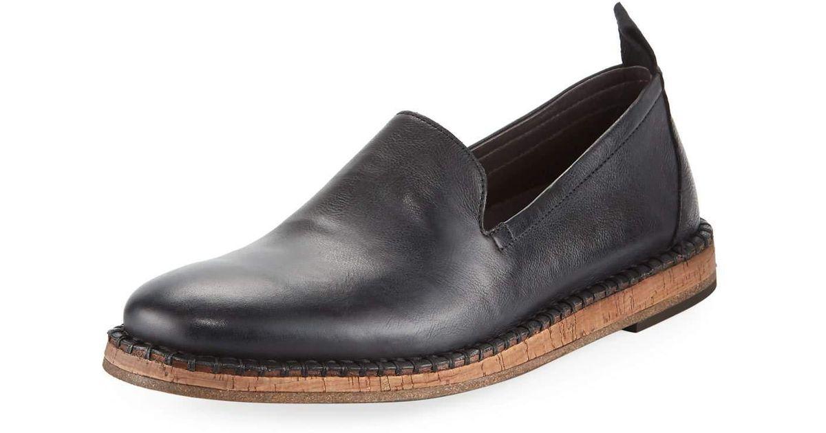 4c357405142 Lyst - John Varvatos Zander Leather Slip-on Loafer in Black for Men
