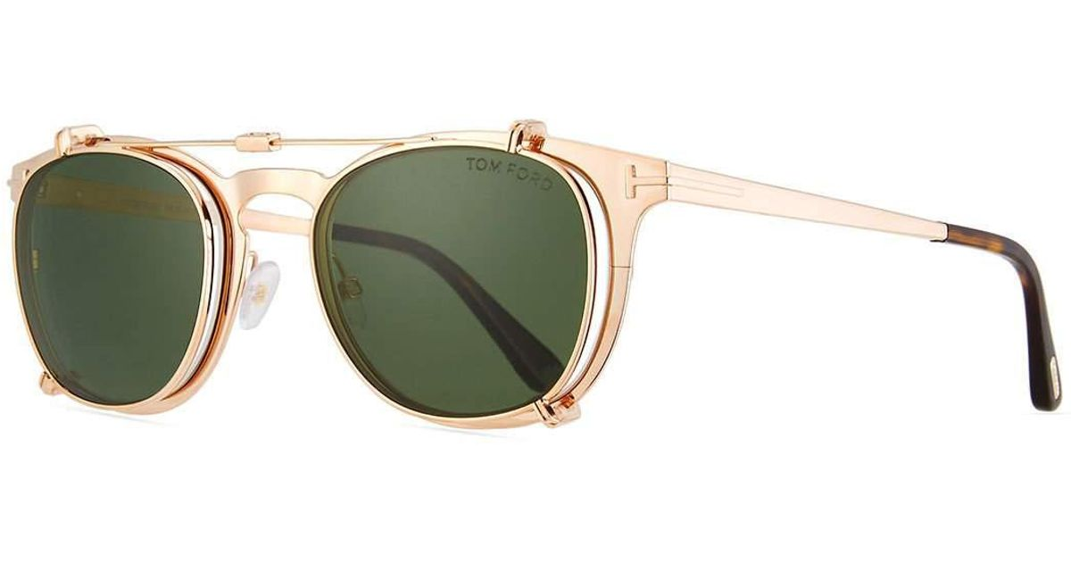 22c4e3f52a Lyst - Tom Ford Special Edition Rose Gold-plated Clip-on Sunglasses Box Set
