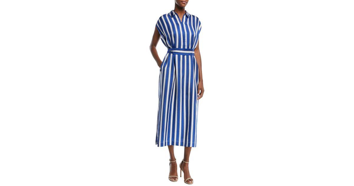 9107066cc1 Lyst - ESCADA Silk Maxi Dress in Blue - Save 75%
