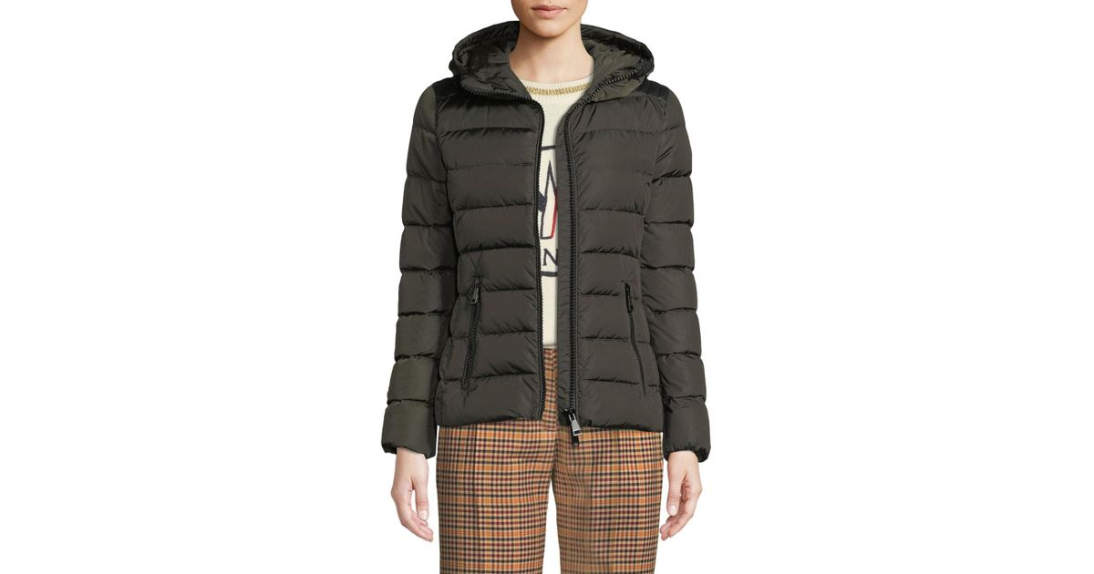 4cf058ab0 Moncler Green Tetras Channel-quilted Puffer Jacket