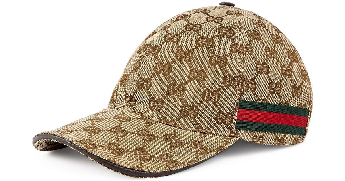 79d0627e4c5 Lyst - Gucci Logo Print Baseball Cap - in Brown for Men - Save 10%
