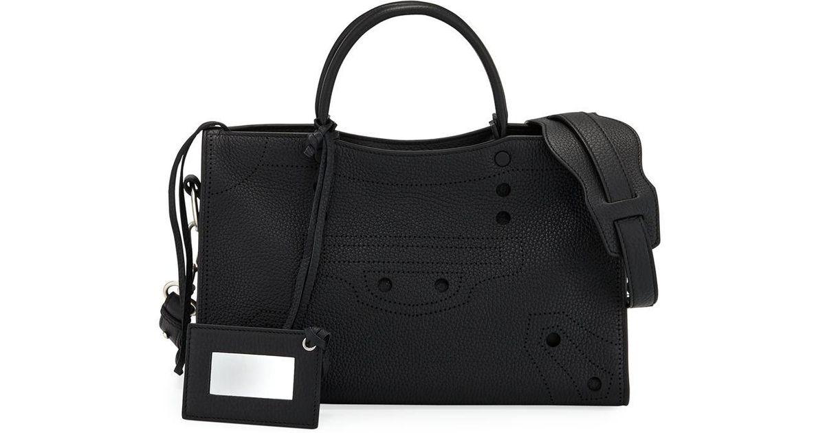 337f81e7978 Balenciaga Blackout City Small Aj Tote Bag in Black - Lyst