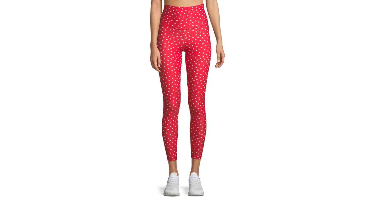 ec14b861e6 Lyst - Beach Riot Harper High-waist Heart-print Leggings in Red