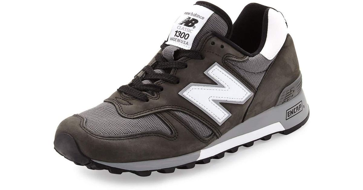 release date: 900ec a7e97 New Balance 1300 Heritage Men s Suede and Mesh Sneaker in Black for Men -  Lyst