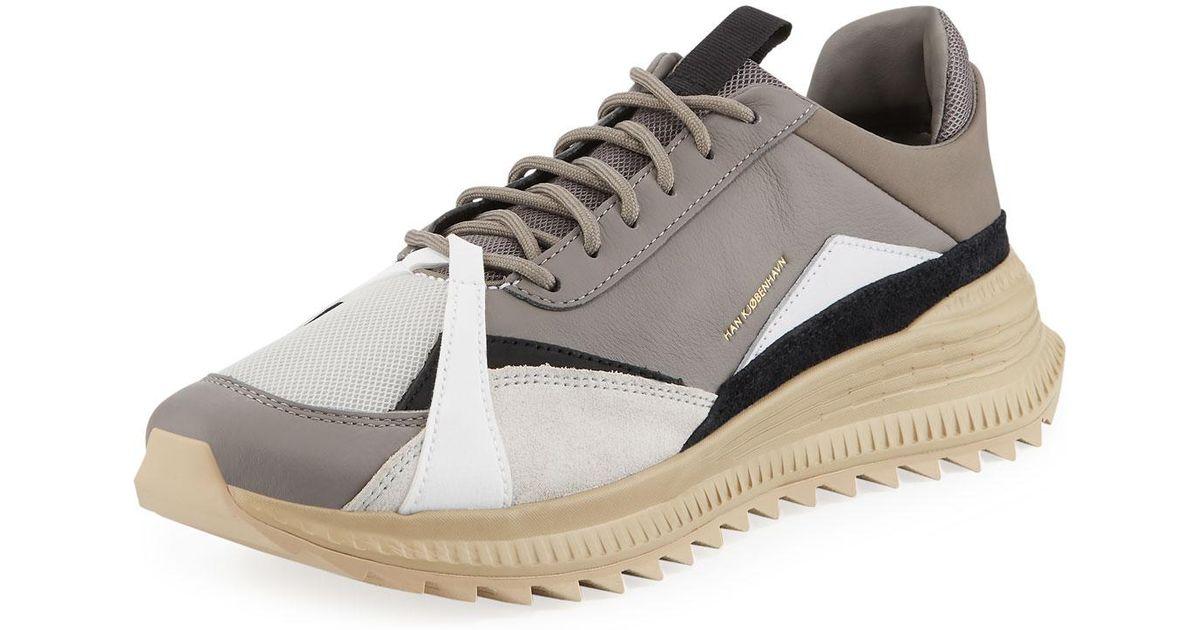 7cb24dc7a42ea7 Lyst - PUMA Men s X Han Kjobenhavn Avid Colorblock Leather Sneakers in Gray  for Men