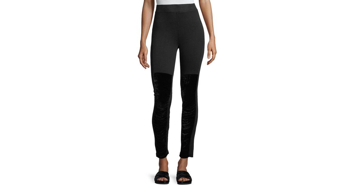 f631fa568ff3ec Lyst - XCVI Plus Size Kata Velvet Leggings in Black - Save 10%