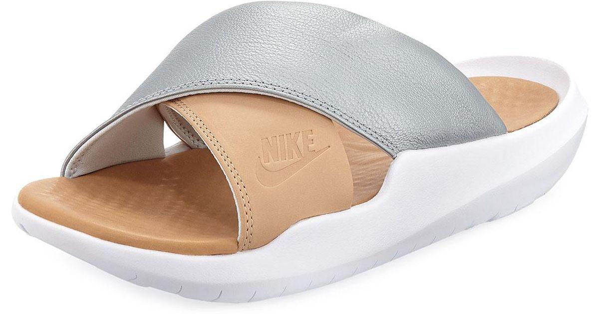 6f42e792c Lyst - Nike Benassi Future Cross Ergonomic Slide Sandal in Metallic
