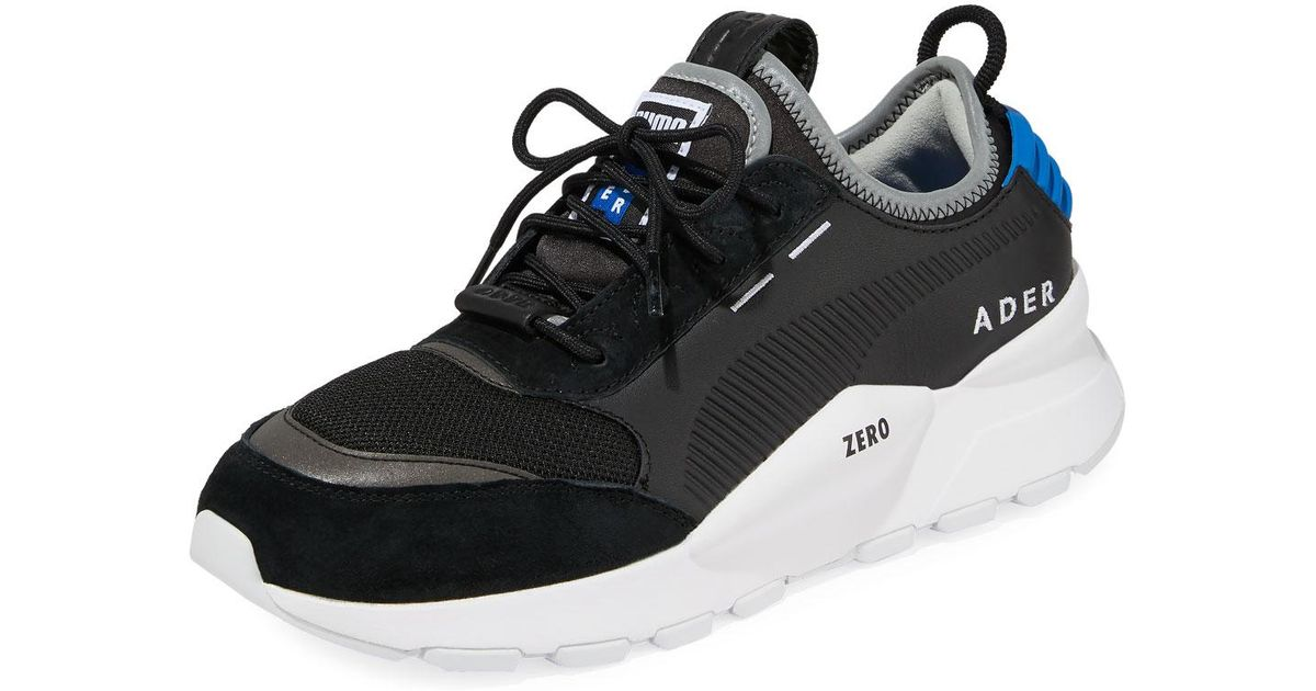 ae92a8a215298f Lyst - PUMA Men s Ader Error Leather Trainer Sneakers in Black for Men