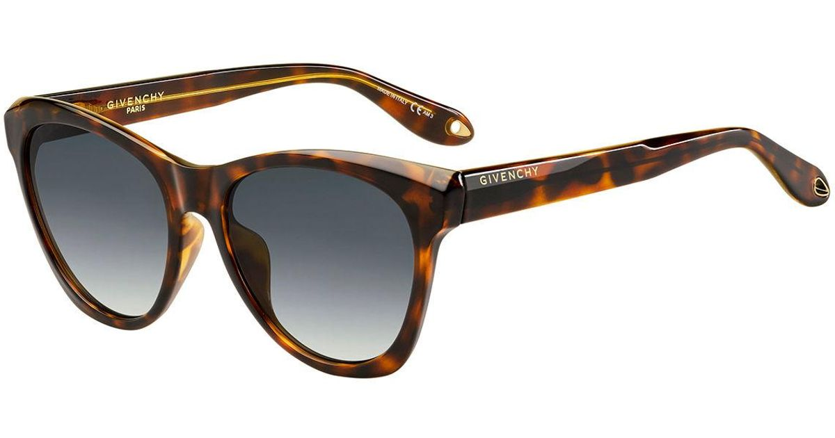 fee05bb9da4f7 Lyst - Givenchy Square Faceted Gradient Sunglasses in Brown