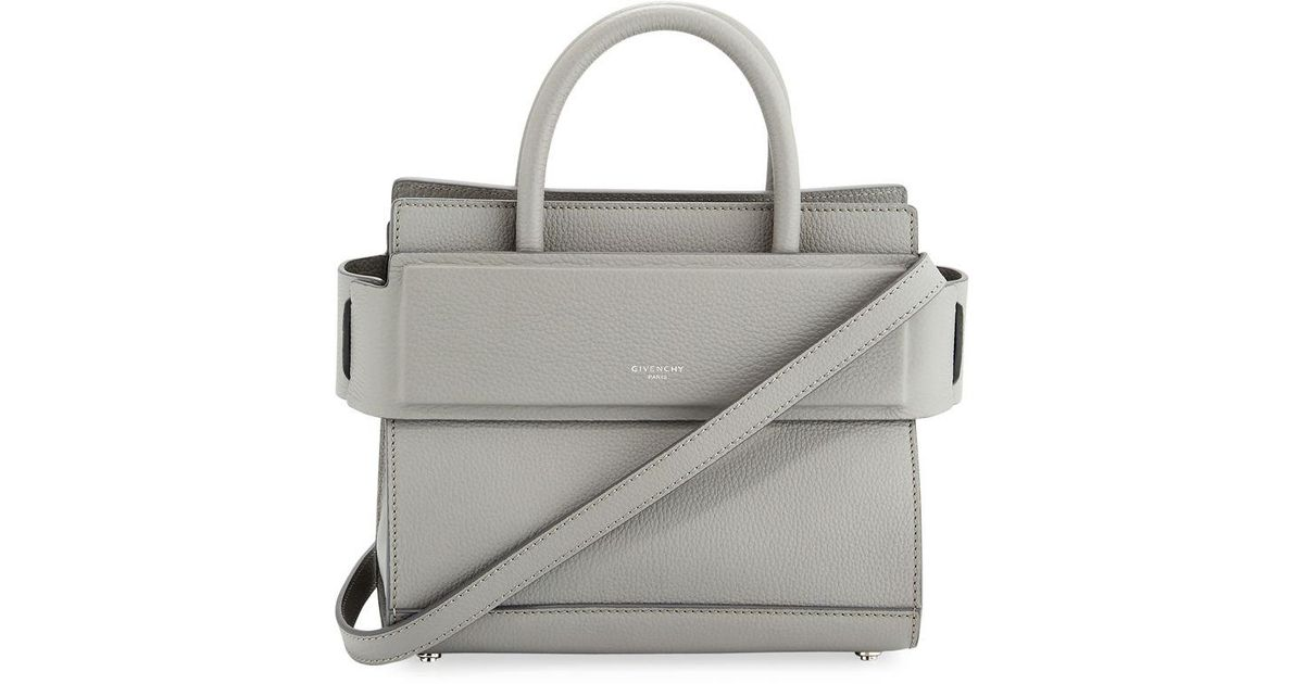 a413a620dc Lyst - Givenchy Horizon Mini Grained Leather Tote Bag in Gray