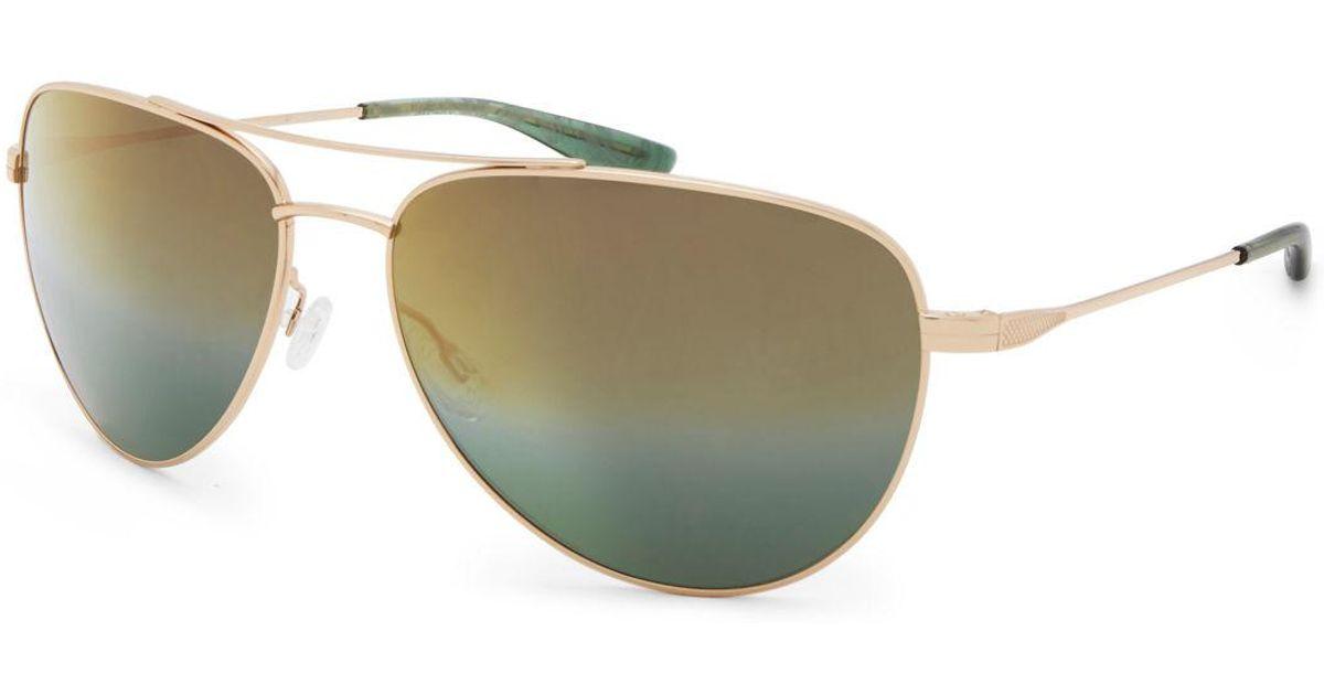 6cefcbec9e Lyst - Barton Perreira Five-star Mirrored Aviator Sunglasses in Metallic