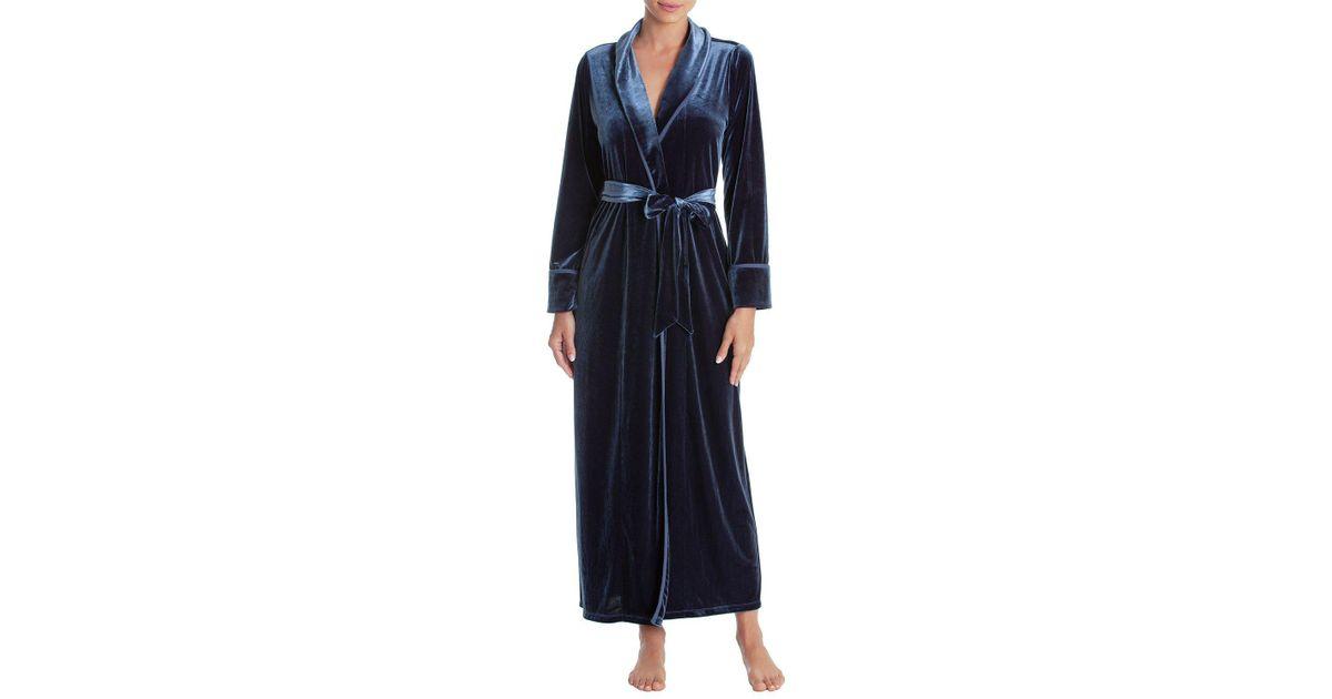 c085f81bb7 Lyst - Jonquil Velvet Long Robe in Blue