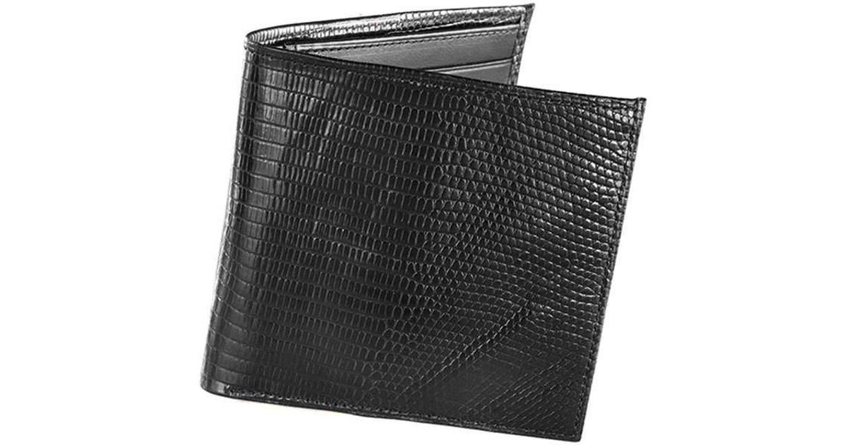 330c2ae71b72 Lyst - Neiman Marcus Lizard Continental Wallet in Black for Men