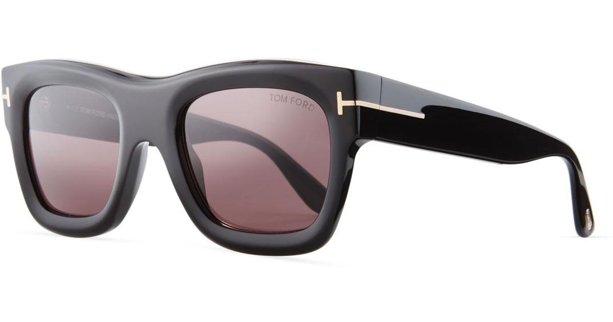5070678add86 Lyst - Tom Ford Wagner Thick Square Sunglasses in Black for Men