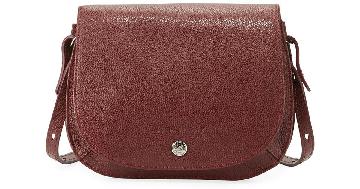 2050c97f5e5984 Longchamp Le Foulonne Small Cross Body Bag in Red - Lyst