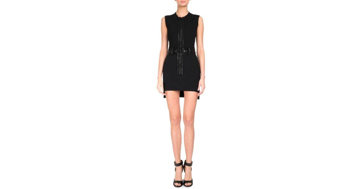 f0a8537094 Lyst - Givenchy Leopard Jacquard Zipper Minidress in Black