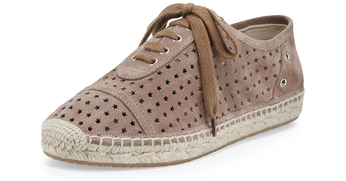 58e104ed4f2 Lyst - Jimmy Choo Dara Star-perforated Espadrille Sneaker in Brown