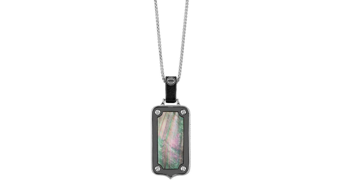 Lyst stephen webster sterling silver dog tag pendant in metallic aloadofball Images