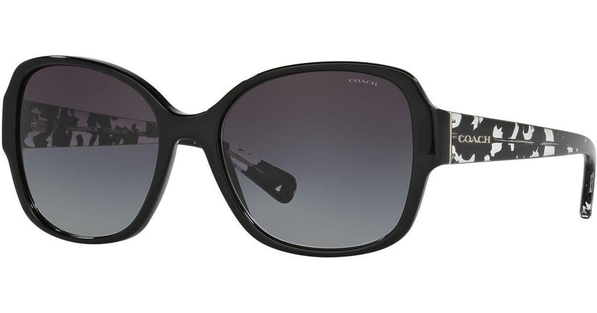 b99ec01cd575f ... closeout lyst coach butterfly sunglasses w speckled transparent arms in  black 5ac09 780cf ...