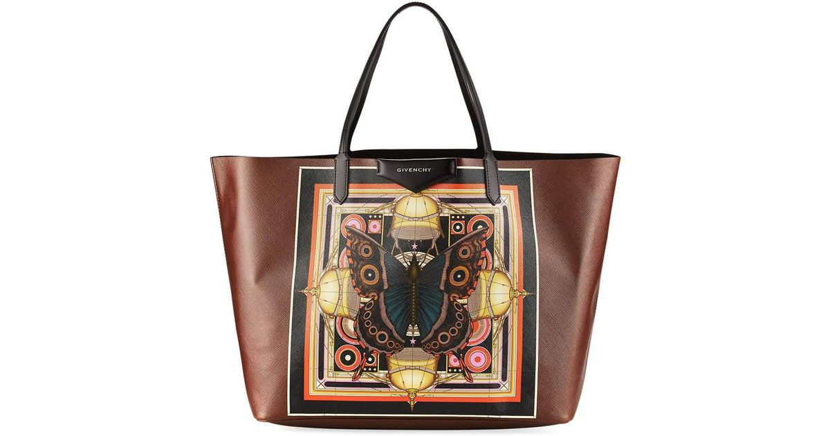 c208ec6c85 Lyst - Givenchy Antigona Butterfly Large Shopping Tote