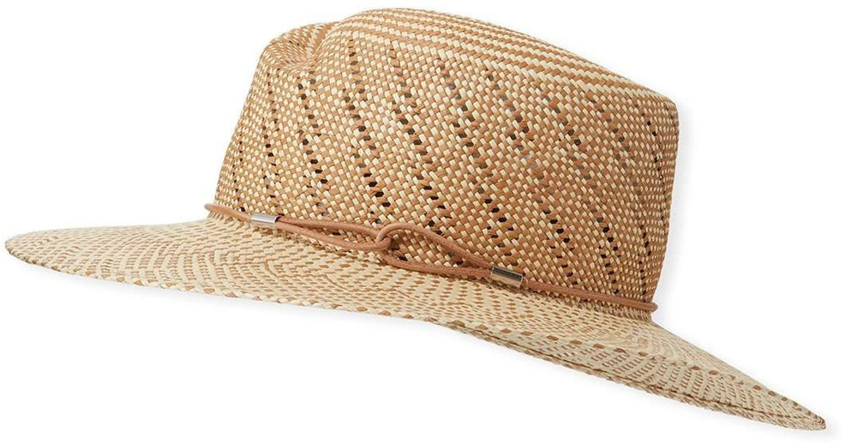 ad2b1595ccd Lyst - Rag   Bone Zoe Two-tone Straw Hat in Natural