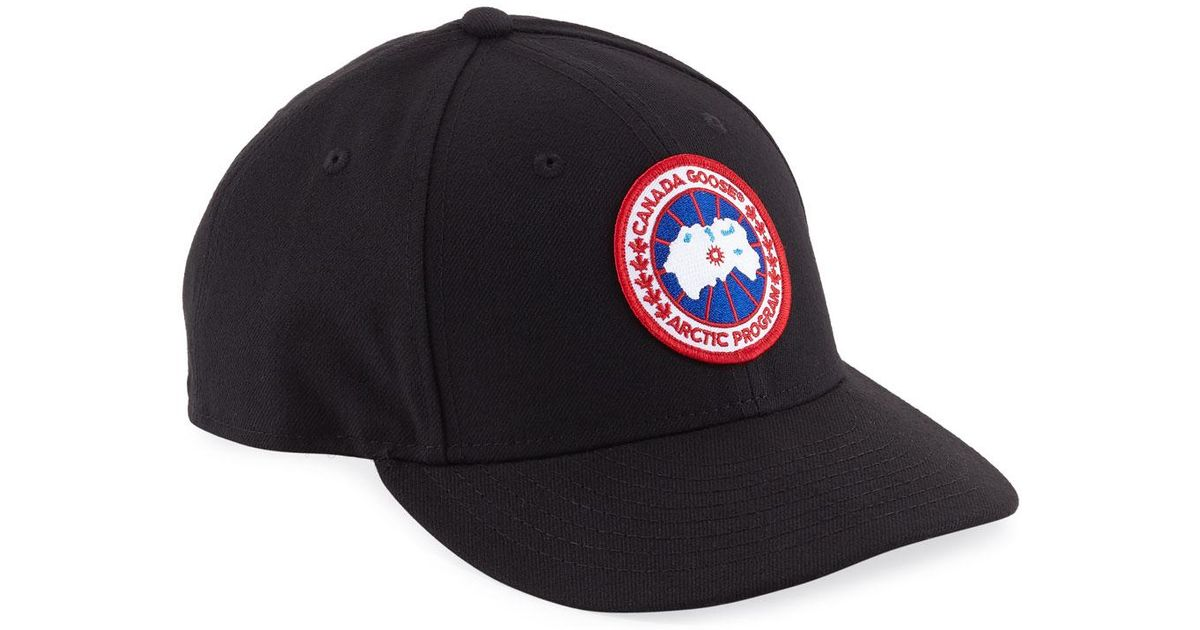 dab4220eced Canada Goose Curved Baseball Cap in Black for Men - Lyst