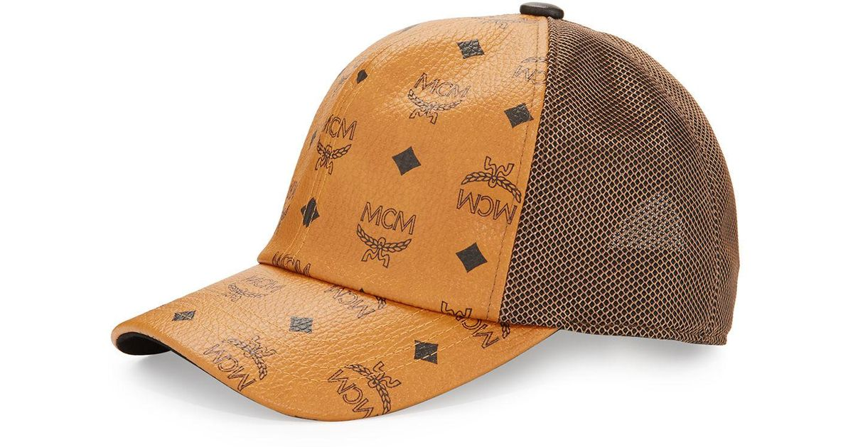 42146968a6a3c MCM Visetos Mesh Cap (white 1) Caps in Brown for Men - Save 30% - Lyst